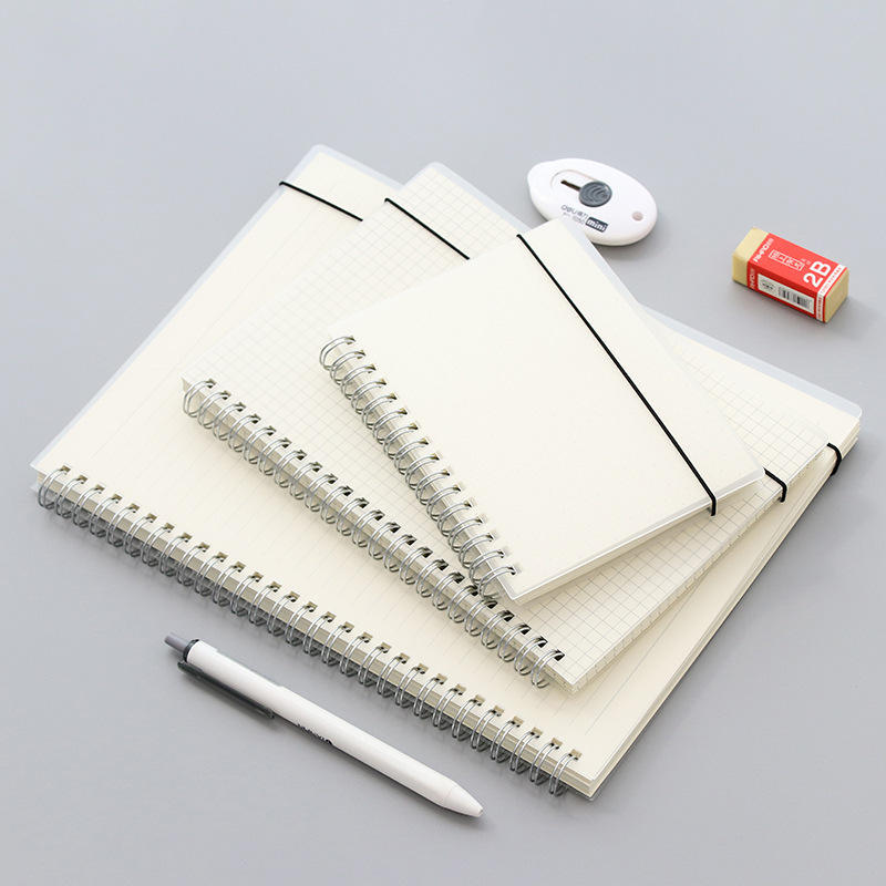 Custom Simple A5/A6/B4 Transparent PP Frosted Surface YO Notebook with Binding Belt