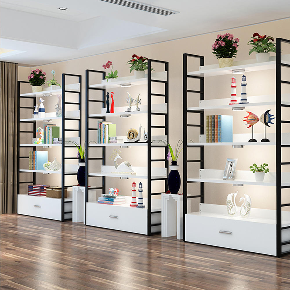 Multi-Function Full Assemble Combination Footwear Shop Display Shelf Cosmetic Decoration Store Fixtures Stacking Shelf Storage