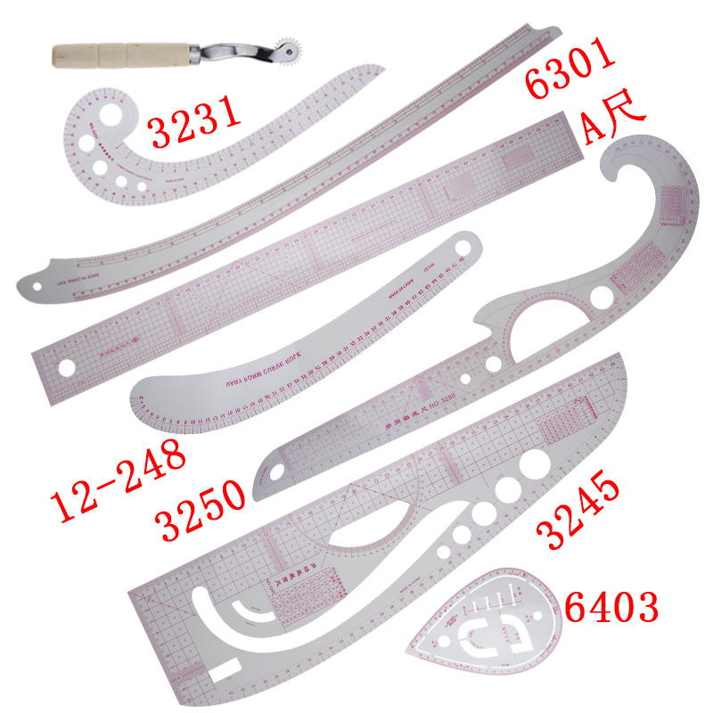 french sewing tailor curve ruler set/ARuler/2660/3245/3231/6403/3250 /6301