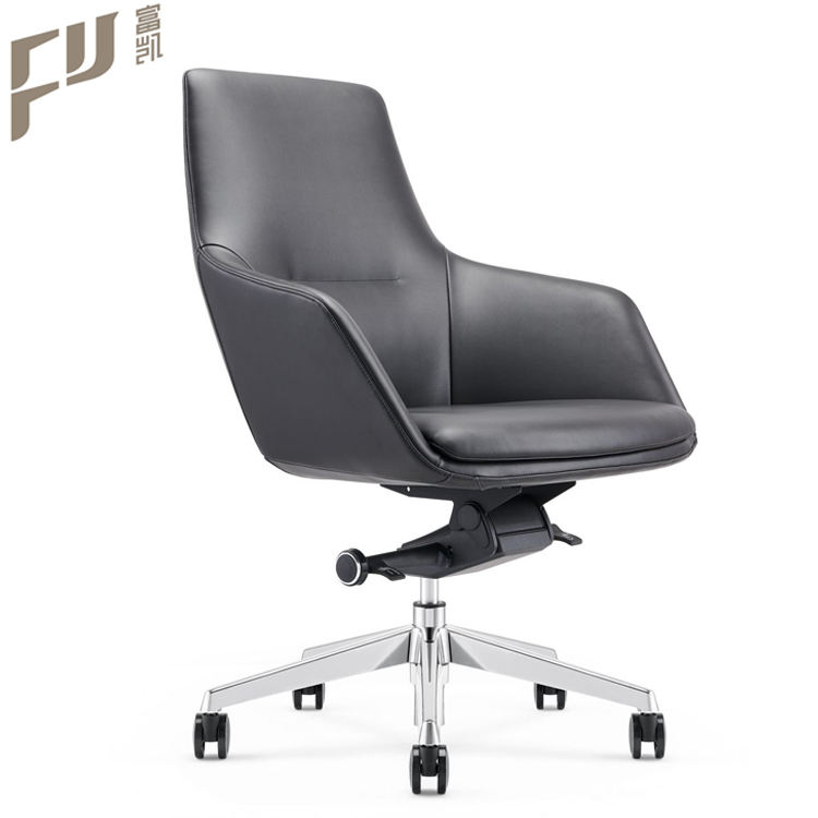 factory price commercial furniture modern pu aluminum mechanism staff office chairs with wheels