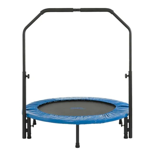 2021 New Mini Indoor Outdoor Fitness Trampoline Rebounder with Handle for Adults Children