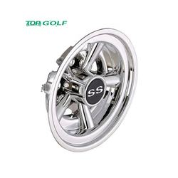 8Inch Golf Cart Wheel Covers , Chrome SS Wheel Covers Universal Fit Set of 4