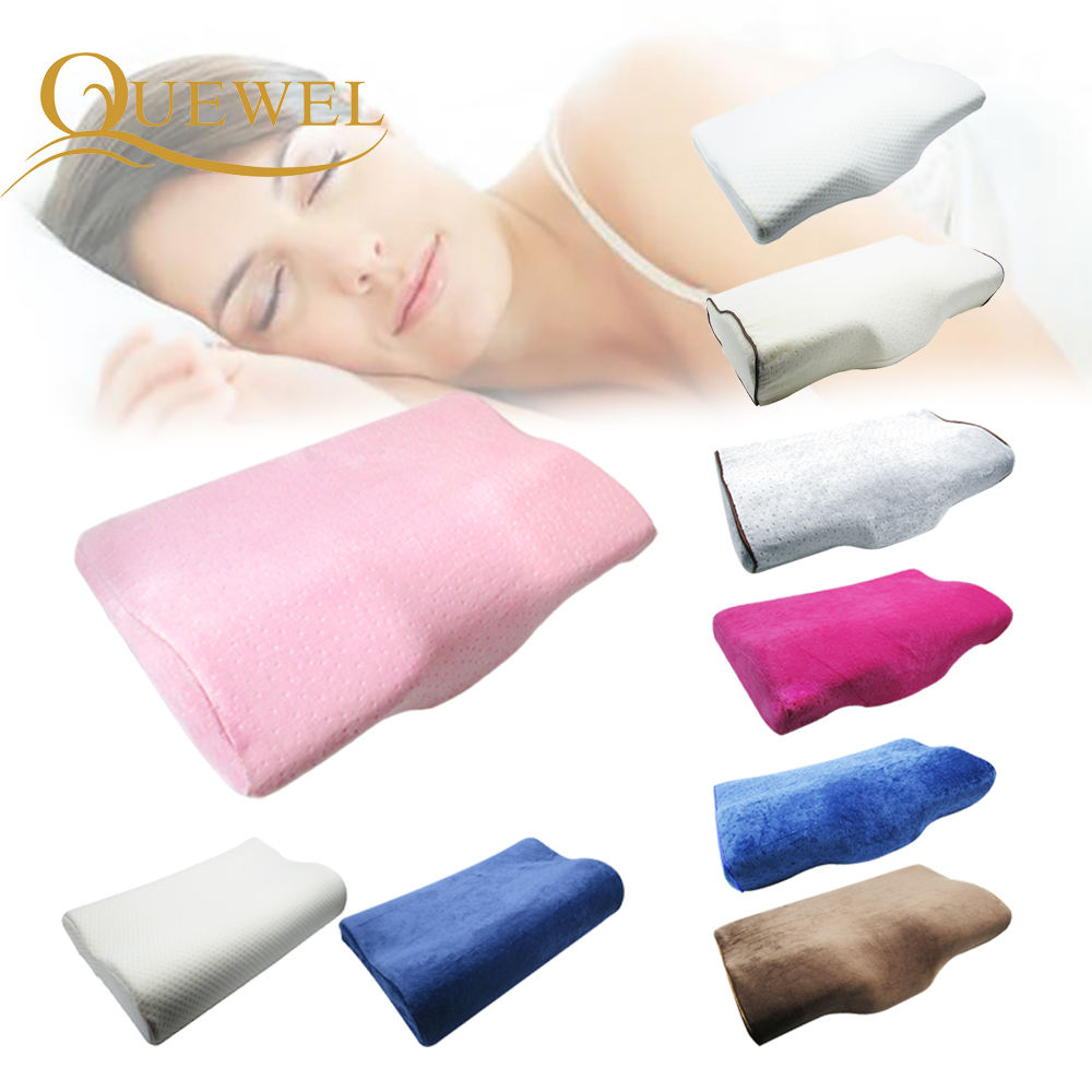 Wholesale Price Custom LOGO Memory cotton eyelash graft pillow Eyelash Memory Pillow For Eyelash Extension Concave Head Pillows