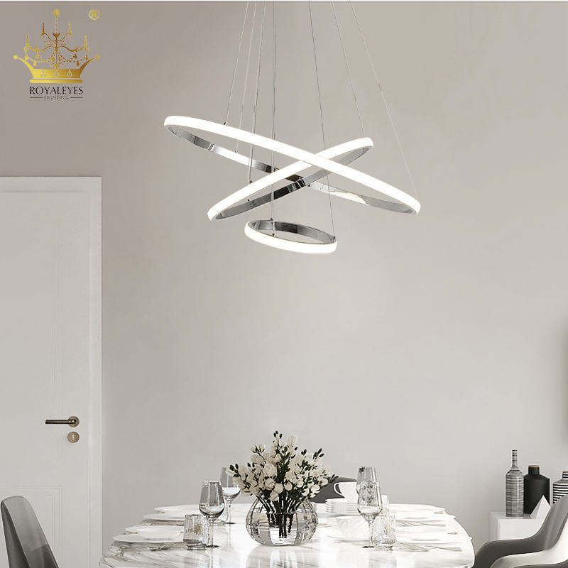 High quality suspended pendant lights smart ceiling led aluminum housing energy lamp warm white