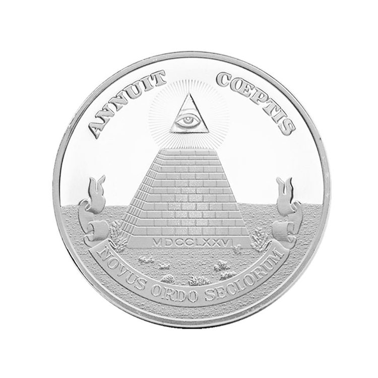 Souvenir Art Freedom Eagle Pyramid Collection Gift Commemorative Coin