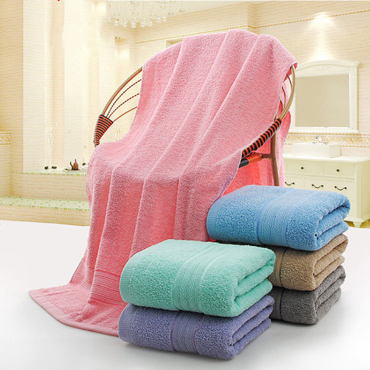 Amazon Hot Sale Wholesale Thick Beach Towel Six Color Optional Cotton Bath Towel