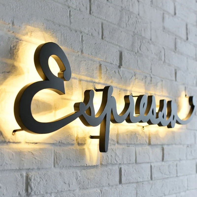 Premium Custom Outdoor Shop Store Metal Electronic Illuminated Front Lit Backlit 3d Waterproof Led Sign Signage Letter Logo