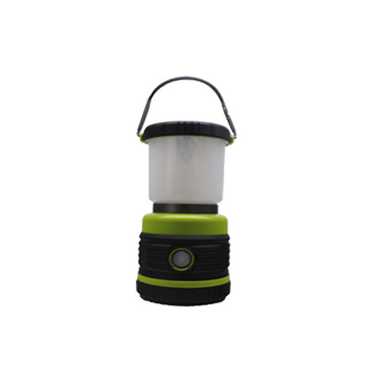 Portable Led camping lamp, plastic multi-light effect portable camping lamp, upside down, handle, dry battery