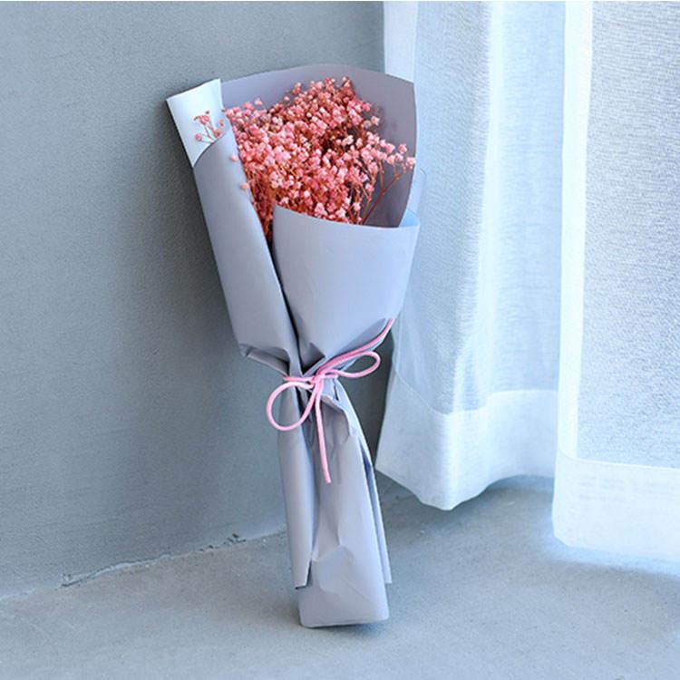 Produttore diretto di stagione di laurea regalo pieno di stelle rosa secchi bouquet carta da imballaggio