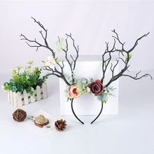Branches Flower Simulation Antlers Elegant Headdress Christmas Cosplay Hair Decoration for Women Fashion