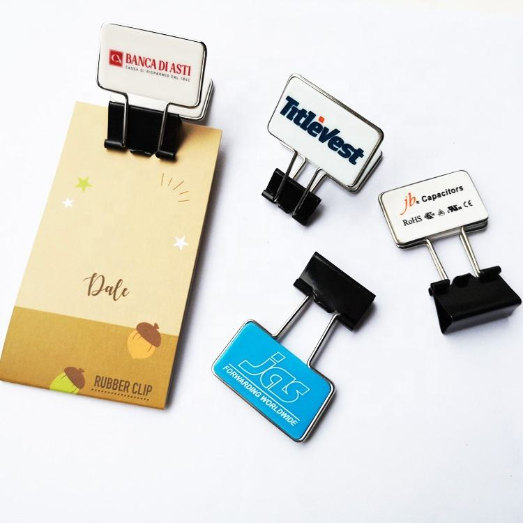 Promotional gift metal flip binder clips