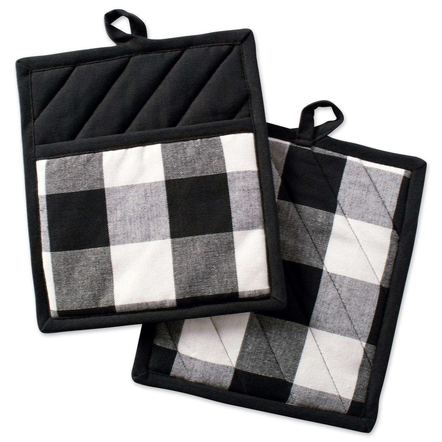 Personalized 5 Colors Available Buffalo Plaid Oven Mitts Pot Holder