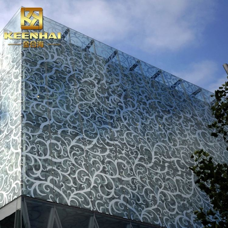Outdoor Laser Cutting Facade Panel Aluminum Curtain Wall System For Building