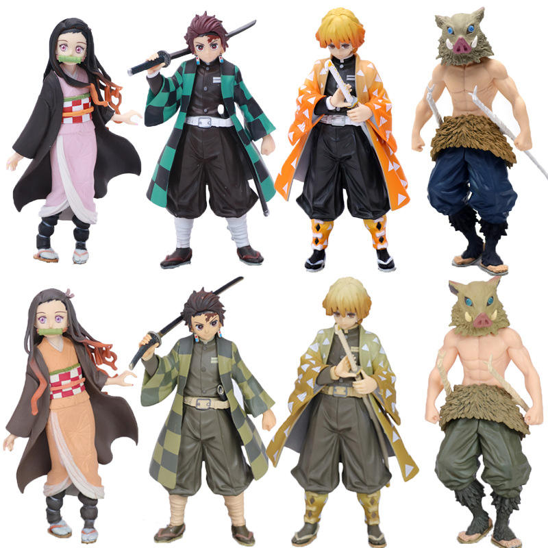 demon slayer 8 style kimetsu no yaiba anime pvc action model figure toys action figure