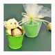 Wedding Favors Personalize Small Bucket Green Tin Pail