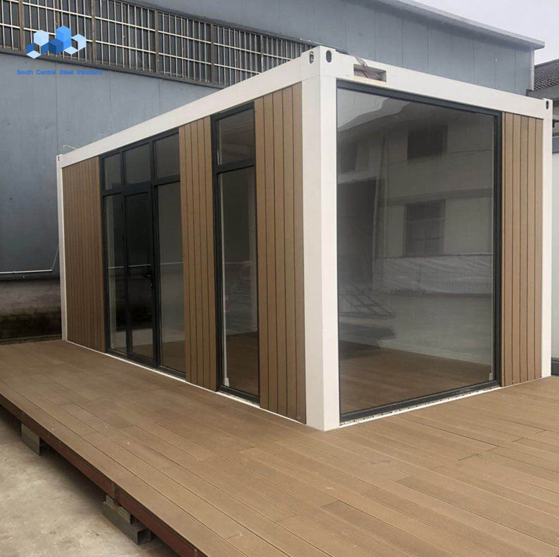 luxury tiny portable modular glass living container house