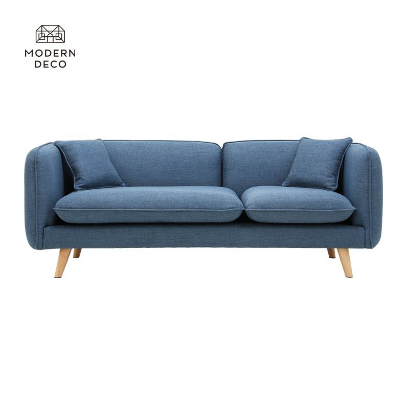 hot sale latest sofa couch soffa canape 3 sitzer sits nordico mordern morden navy blue living room home furniture for livingroom