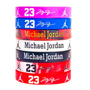 Bracelet amérique kobe curry James durant irving durcir Jordan mouvement de basket-ball silicone bracelet lumineux