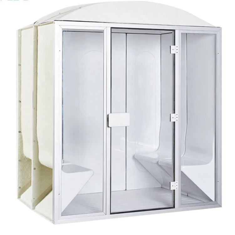 Factory price 4 person outdoor steam sauna room for sale