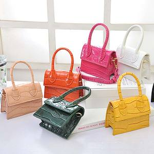 Luxury Handle Mini Purses Handbags 2020 female Designer crocodile pattern totes Small Shoulder Crossbody women leather bag