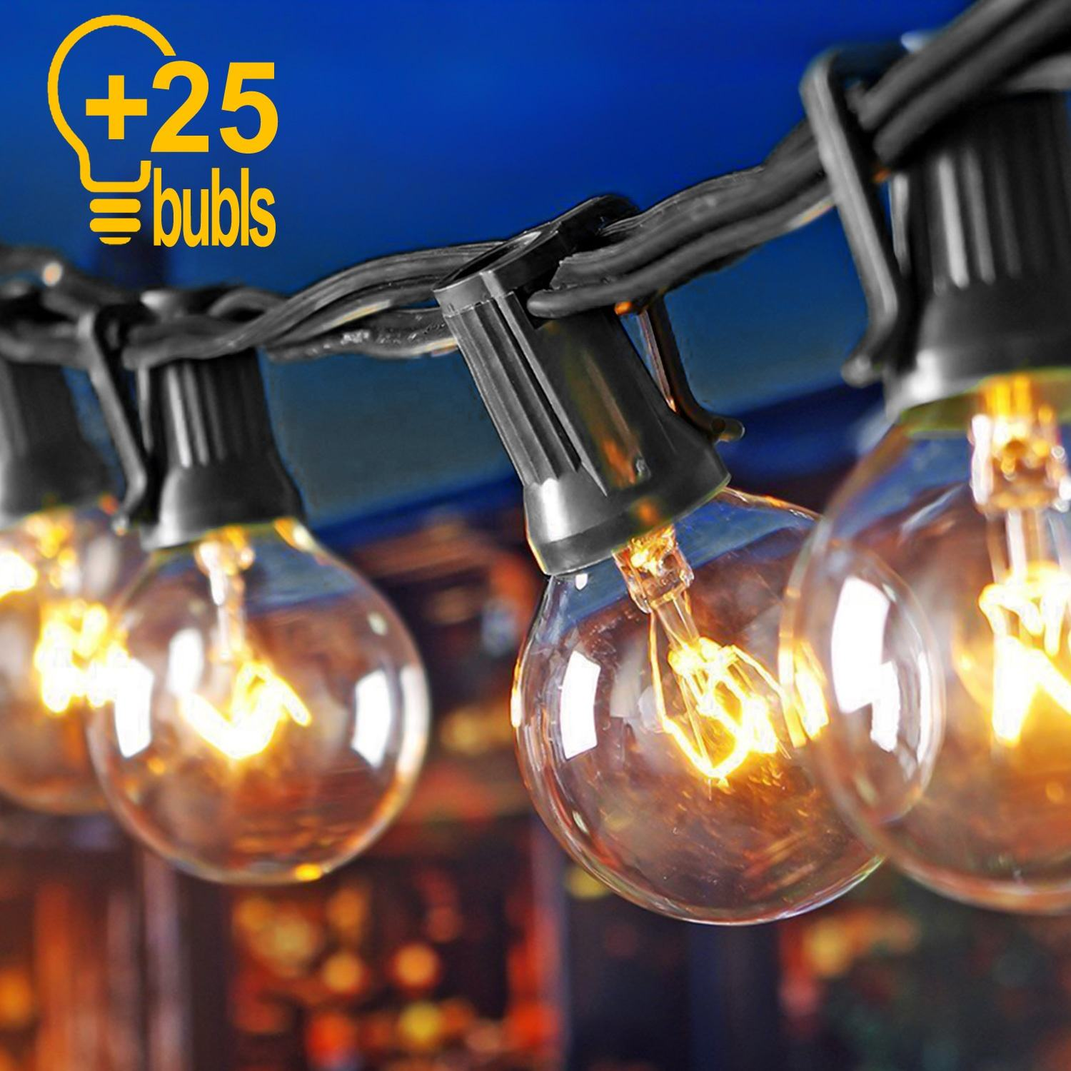 Customized Festoon Patio Cafe Light Outdoor Decoration Globe Vintage Bulbs G40 String Light outdoor