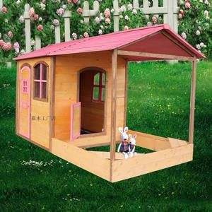 Role Play House Children Wooden Toy Playhouse Outdoor Kids Children Playhouse