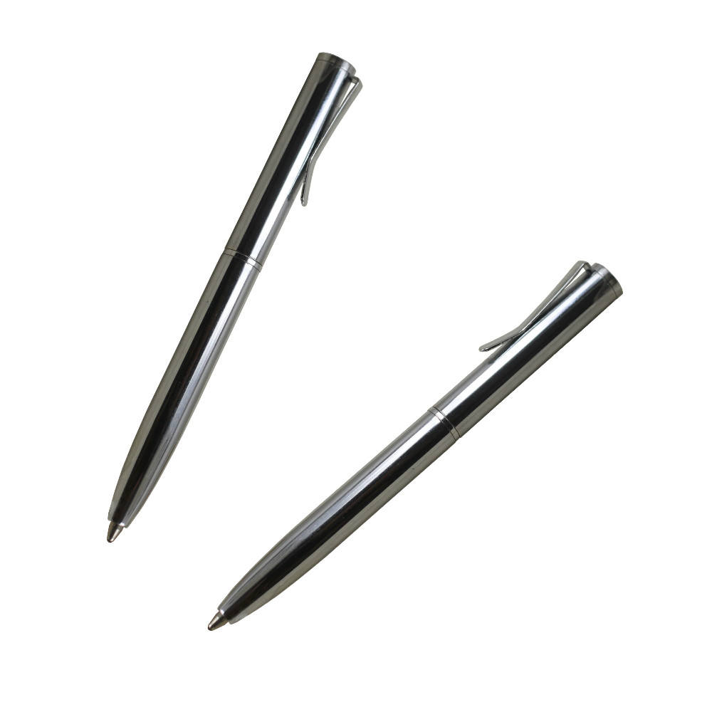 Copper material customized metal twist mini ball point pen for wallet