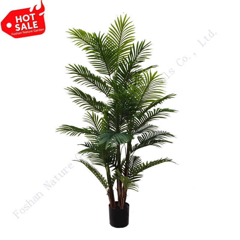 Wholesale Indoor/Outdoor Decoration Fake Green Plants Trunks Plastic Artificial Palm Tree