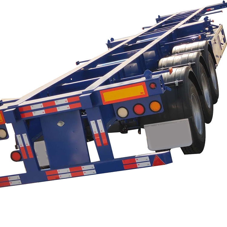 China trailers manufacture shipping container utility 20ft 40ft cargo skeleton container semi trailer truck