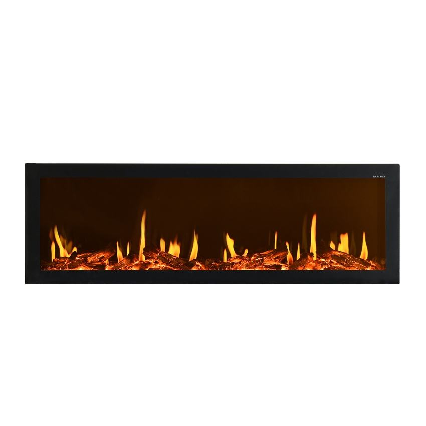 Electric fireplace and home decoration for indoor luxury black white led light fire metal