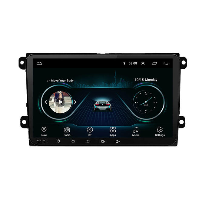 Doppel Din 9 Inch Autoradio GPS Android Auto DVD Player Touch Screen Auto Radio für <span class=keywords><strong>VW</strong></span> Passat Golf