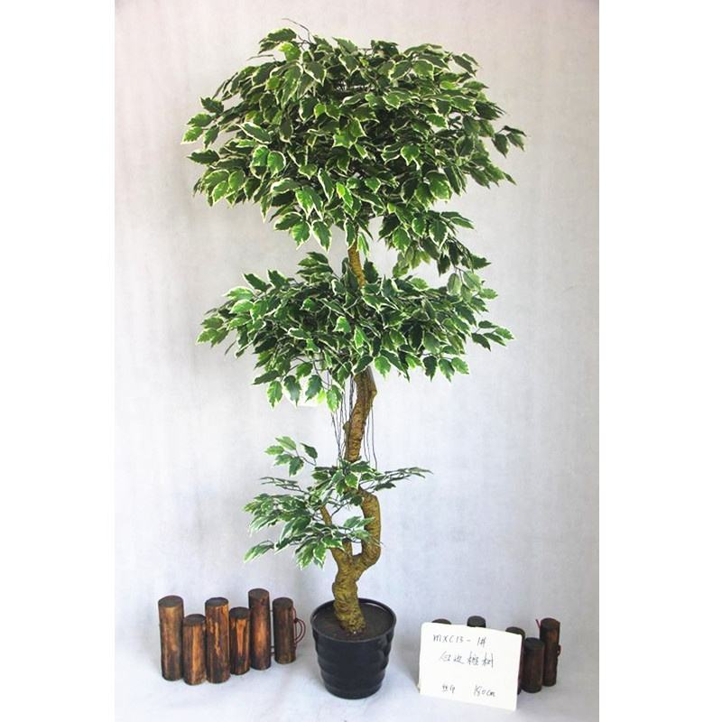 cheap indoor pot tree garden faux plant arbol artificial bonsai banyan 5foot fake silk ficus tree