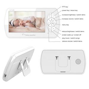 HD 1080P 4.3 inch LCD Screen IR Night Vision Wireless audio wifi baby temperature sensor Two Way Audio baby monitor wifi camera