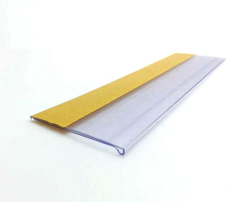 Supermarket Shelf Plastic Price Label Holders Tag Holders with Adhesive Tape