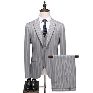Wholesale Handsome Latest Man Suit Design Printed 3 Pieces Slim For Man Single Breasted Man Office Suit