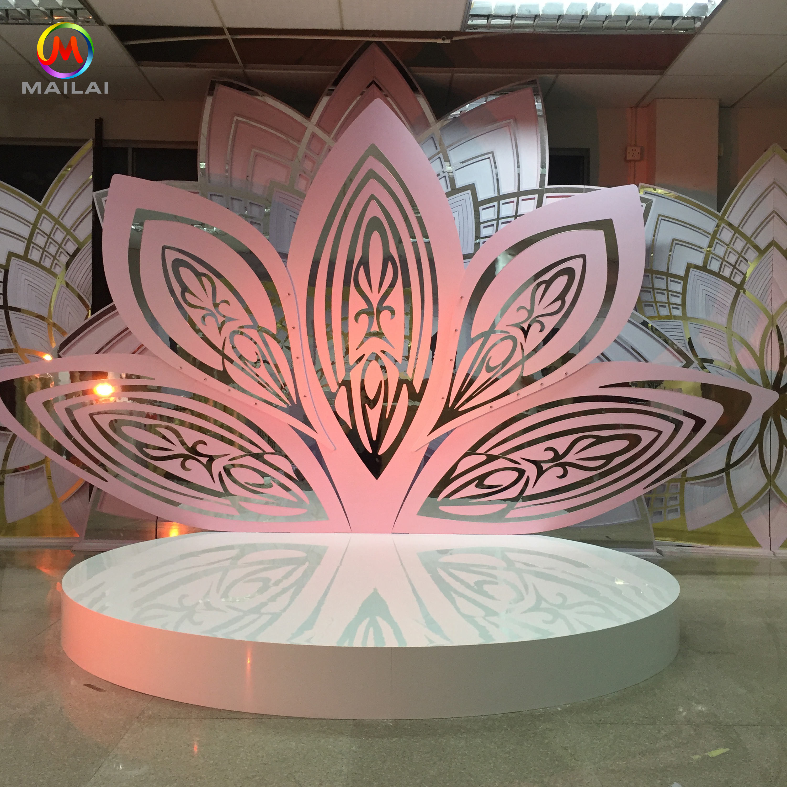 Fashion stage platform high-density PVC+acrylic wedding stage ,used wedding backdrop decoration