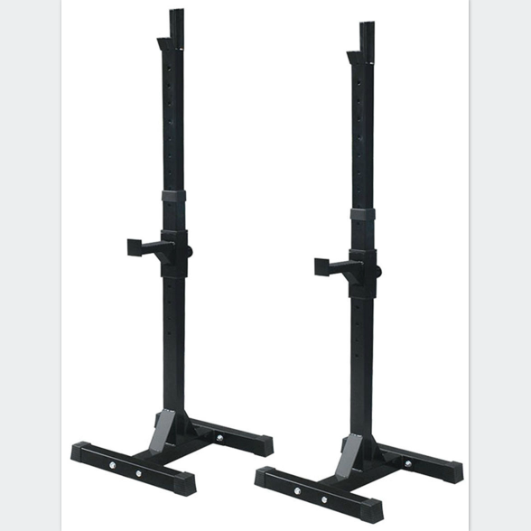 Adjustable standard steel squat rack stands portable weight bench