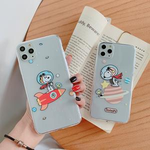 Für iPhone 11 Pro Max 11 Pro XsMax Xs 7 8 Transparent Charlie Brown Hund Doggy Schützen Fall