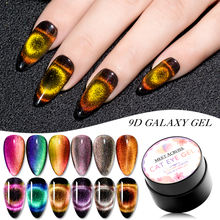 Galaxy 12 Color Nail Private Label Cats  Eyes Magnet Cat Eye Gel Polish