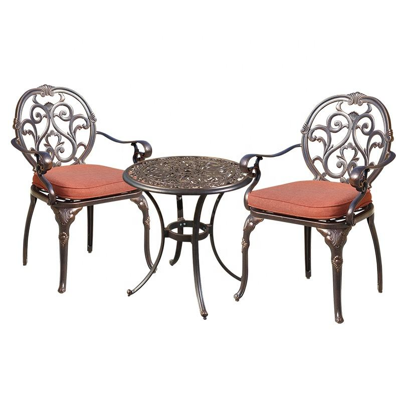 Mojia Unique Design Cast Aluminum Can Brave Harsh Weather Best Outdoor Garden Furniture Set Sale