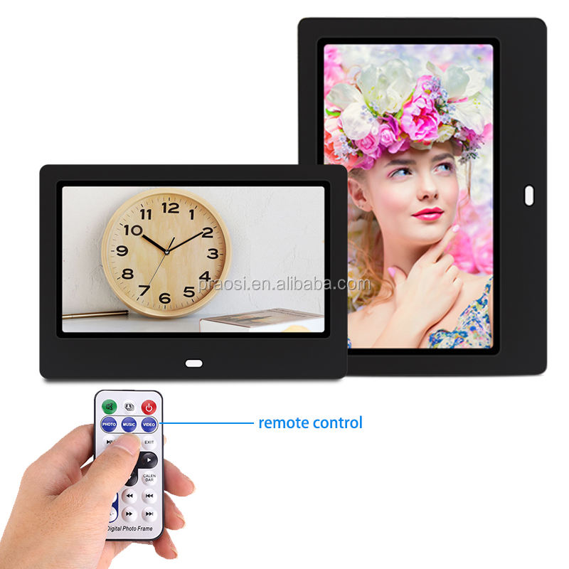 Wall mount 1024*600 HD 1080p 10 inch bulk digital photo frame play video/music/picture