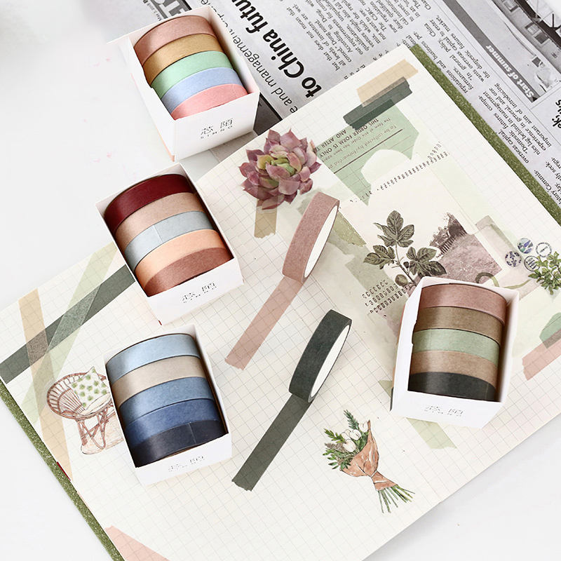 Self Adhesive Custom Printed Decorative Washi Paper Tape in Bulk