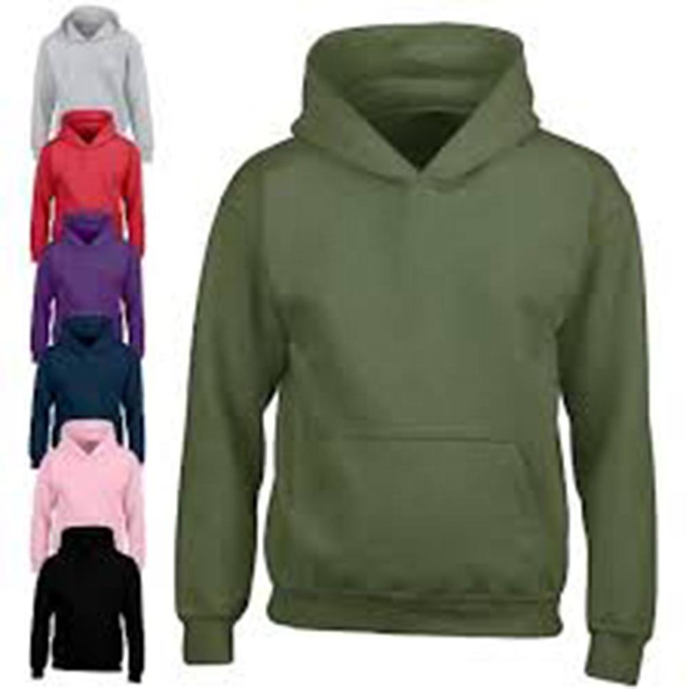 Wholesale hot products custom print logo men women junior heavy plain thick fleece hoodie