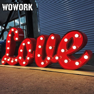 WOWORK fancy holiday led letters big light decorative marquee letter sign