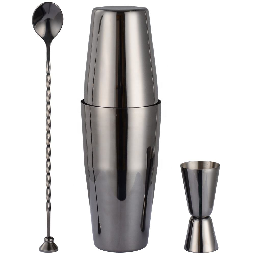 304 stainless steel hot sale cocktail mixer custom boston cocktail shakers one set