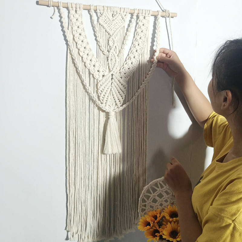 Bravo Custom As Request Handicraft Cotton Crochet Wall Hanging Home Decor Boho Macrame