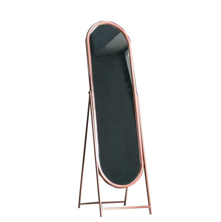 40x120cm standing mirror with metal frame wall hanging makeup mirror oval big size custom full -length mirror