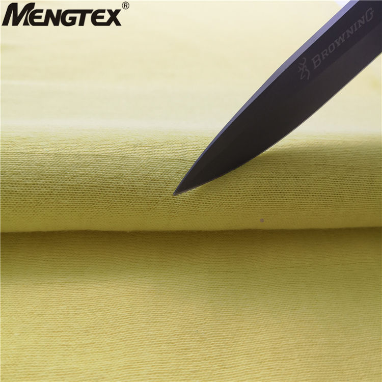 Fire proof cut resistant aramid fabric for motorcycle clothes