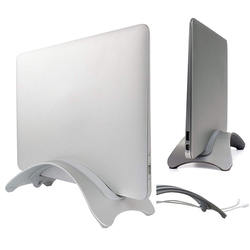 for Macbook Holder Vertical BookArc Stand Holder, Aluminum Space Saving Vertical Laptop Stand Holder Vertical