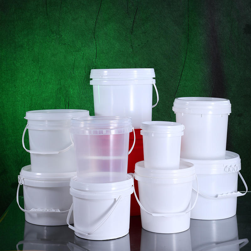 Plastic Suppliers Unbreakable Refillable Cosmetic Garbage Storage Container Paint Packaging Bucket with Lids Food Grade